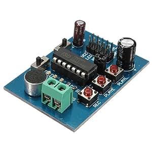 ISD1820 voix enregistrée sur carte Sound Recorder Enregistrement Lecture Module de bord Microphone.
