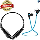 Supreno Bluetooth Headset - JOGGER® Wireless Sports Headphones With Mic || Noise Cancellation || Sweatproof Earbuds, Best For Running,Gym || Stereo Sound Quality || With HBS-730 Bluetooth Stereo Headset HBS 730 Wireless Bluetooth Mobile Phone Headphon