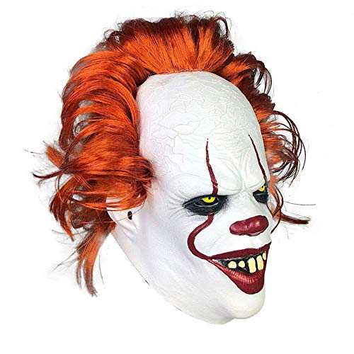Zum Kostüm Verkauf Clown Scary - MU Maskerade Halloween Clown Droll Gruselig Scary Cosplay Kostüm Maske Latex Horror für Unisex Erwachsene Party Dekoration Requisiten Ghost Devil Dancing Kopfbedeckung