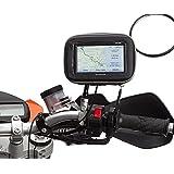 Ultimateaddons - Montage rétroviseur moto 8-16mm et étui GPS imperméable pour GPS Garmin Nuvi - M - 135 x 85 x 50mm, -
