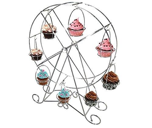 ive Kaffeebereiter Edelstahl Creative Riesenrad Cupcake Display Ständer Halter (Silber) ()