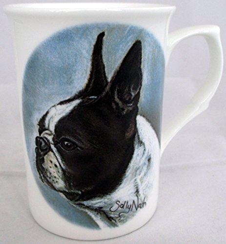 Boston Terrier Tasse Fine Bone China Hundeliebhaber zum Sammeln Tasse Hand-dekoriert in Großbritannien -