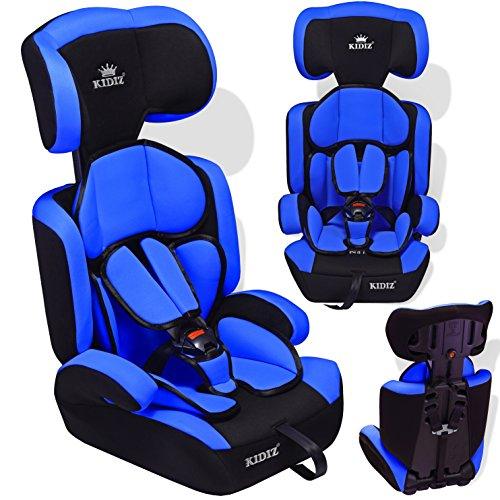 Kidiz® Autokindersitz Kinderautositz ✓ Gruppe 1+2+3 ✓ 9-36 kg ✓ Autositz ✓ Kindersitz | Stabil und Sicher | Farbe: Blau