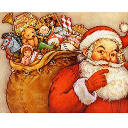 Giunuak DIY 5D Diamant Malerei Santa Claus Full Square Kreuzstich Mosaik Diamant Stickerei Malerei Home Decor (Kaufen Zu Anzüge Santa Claus)