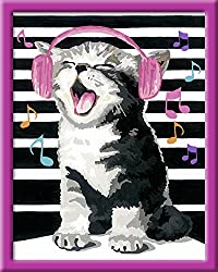 Ravensburger Malen nach Zahlen 28431 - Singing Cat, 24 x 30 cm