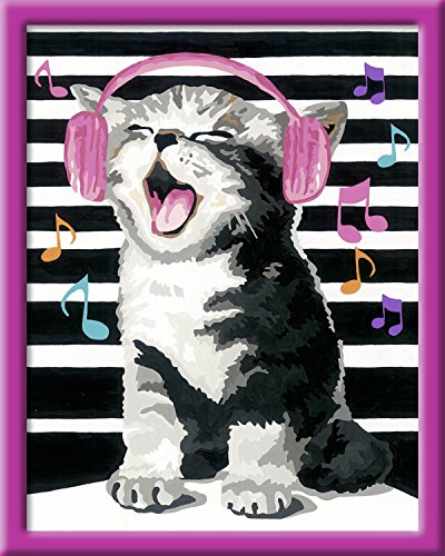 Ravensburger Malen nach Zahlen 28431 - Singing Cat, 24 x 30 cm
