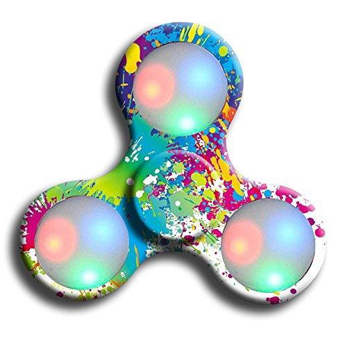 BBTshop LED Fidget Mano Spinner giocattolo di sforzo riduttore ad alta velocità Superb Fidget giocattolo in acciaio inossidabile Bearing 608 possono continuare a ruotare per 1-3 minuti (Multicolore)