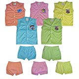 #8: New Printed Collection Fit for Born Baby Boys 5 Tops and 5 Matching Bottoms (Pack Of 5)