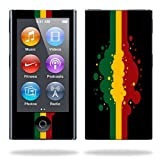 Mightyskins Protective Skin Decal Cover for Apple iPod Nano 7G (7th generation) MP3 Player wrap sticker skins Rasta Flag