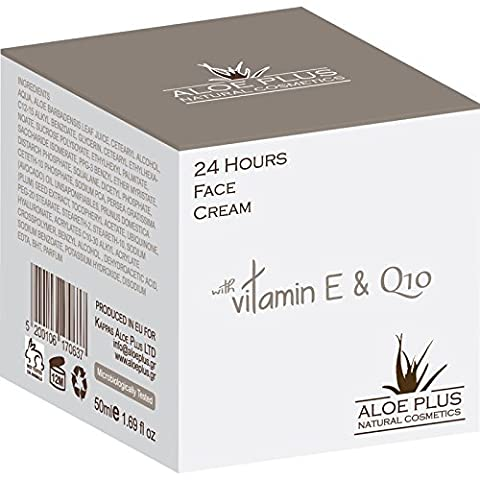 Aloe Plus 24 Hours Anti Wrinkle Cream 50 ml with organic aloe vera and Vitamin E & Q 10