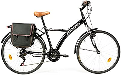 Moma - Bicicleta Híbrida SHIMANO. Aluminio, 18 velocidades, ruedas de 26