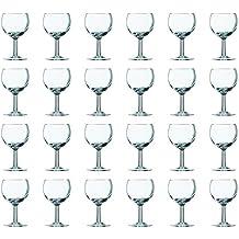 24 Weingläser Rotwein Wein Ballon Gläser Glas 0,2 Liter Ohne Eichstrich