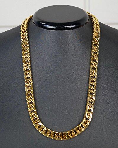 Luxus RE catena in acciaio inox catena collana oro colori 55cm 10x 4mm kk20