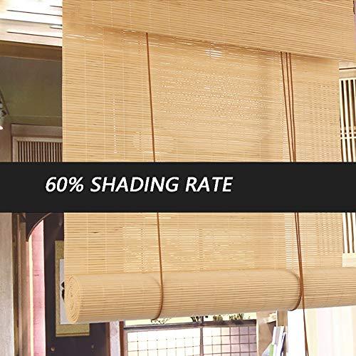 Seitenzug- & Springrollos Bambusvorhang Roll Up Window Blind Sonnenschutz 60% Bambus Woven Roman Shades, Mildew Proof Home Tea Room Screen Jalousie (Size : 120x240cm) -
