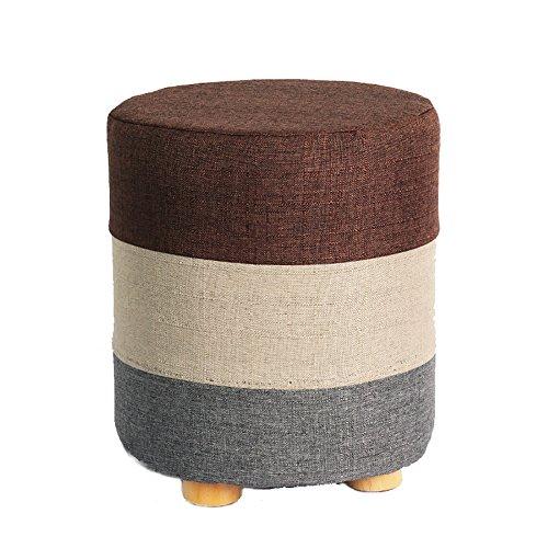 Small stool Schuh-Bank-Kleiner runder Schemel-Fester hölzerner Schemel, Gewebe-Sofa-Schemel-kleines Bank-Starkes Lager, Multi-Color optional (Farbe : 3) - Zurück 3 Sitz Sofa