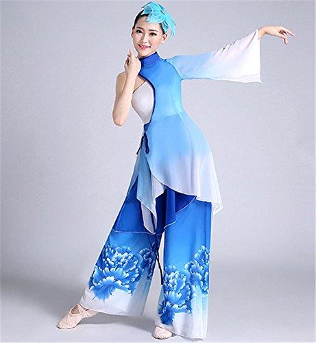 Frau klassische Tanz Performance Kostüm / ethnischen Tanz Show Anzug , blue , m