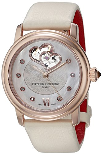 Frederique Constant World Heart Federation FC-310WHF2P4 35mm Diamonds Automatic Gold Plated Stainless Steel Case Breig Satin Anti-Reflective Sapphire Women's Watch