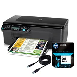 HP Officejet 4500 Desktop All-in-One Printer, Ink and USB Cable Bundle