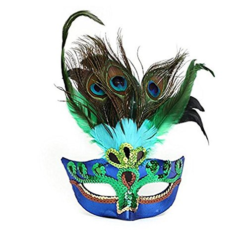 (Halloween Cosplay Maske Pfau Federn Maske Maskerade Kostüm Party Maske Party Dekorationen)