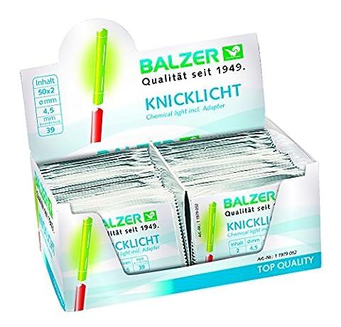 Balzer Lot de 100 bâtons lumineux à craquer pour pêche dans la boîte