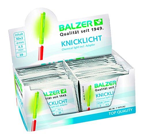 Balzer Lot de 100 bâtons lumineux à craquer pour...