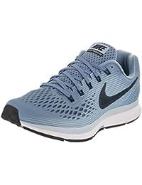 Nike Women's Air Zoom Pegasus 34 Work Blue/Black Ice Blue White Running Shoe 5 Women US