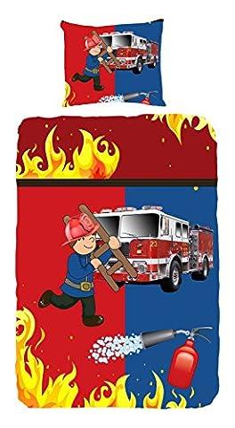 Housse de couette Camion de pompiers 100%