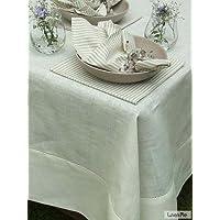 LinenMe 140 x 180 cm tovaglia in lino Emi, biancastro
