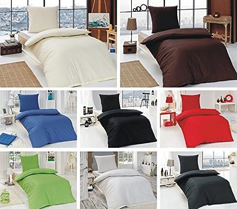 Renforce Uni Bettwäsche / Uni Wende-Bettwäsche, 135x200 cm, 155x220 cm, in vielen Farben - Renforce Uni Bettwäsche 155x220, 80x80 cm, Farbe Anthrazit + GRATIS Waschhandschuh von