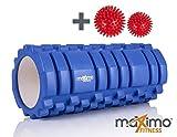 Rouleau de massage en mousse- Point de déclenchement - Solide et résistant - Guide de démarrage rapide (français non garanti) - Parfait pour le massage des muscle à la maison, pour la gym, le pilates, le yoga - 14 x 33 cm
