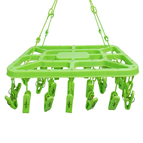 Winberg-R-32-Clip-Laundry-Clothesline-Hanging-Rack-for-Drying-Clothing-Colour-May-Vary-by-Glitter-Collection-DHNG