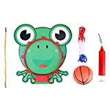 FTVOGUE 5 in 1 Cartoon Tier Hängende Basketball Set Hoop Net String Pumpe Kinder Spielzeug Indoor Mini Basketballboard(02)