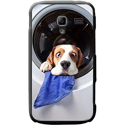 Waschmaschine Beagle Hund - Lustig Hartschalenhülle Telefonhülle zum Aufstecken für Samsung Galaxy Ace 2 (i8160) (Ace Waschmaschine)