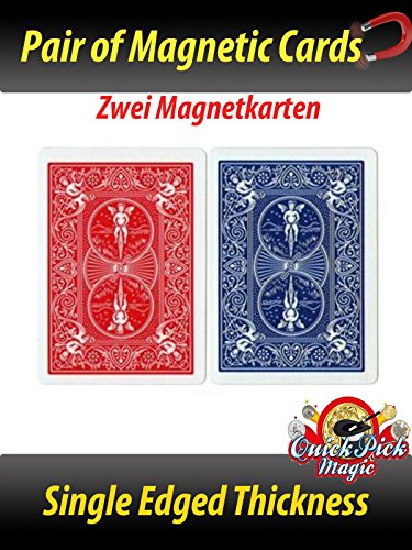 QUICK PICK MAGIC Pair of Real Bicycle PK Magnetic Cards / Paare Reales Bicycle PK Karten