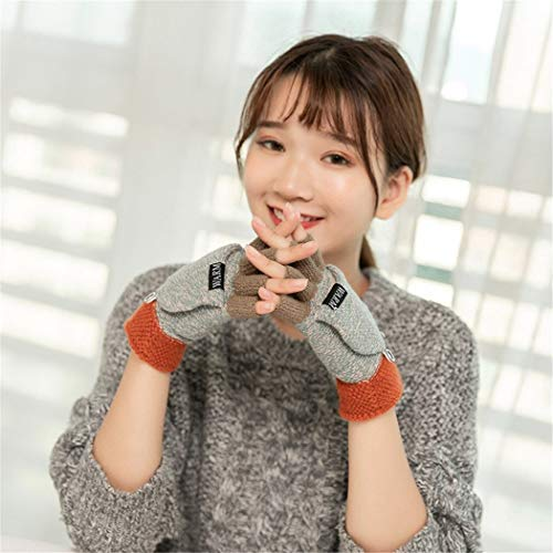 STZHIJIA Winter Handschuhe Warme Hälfte Finger Handschuhe Beflockung Warmen Stricken Halben Finger Handschuhe C