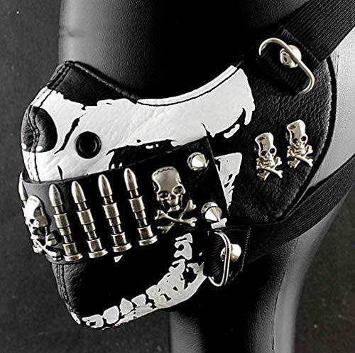 Herren Halloween Customes - VAWAA Kugel Maske Herren Punk Rock