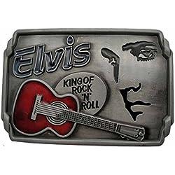 YONE Hebilla de cinturón Elvis Rock N Roll Music Belt Buckle