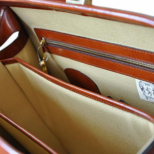 Pratesi Leonardo Italian Leather Laptoptasche braun