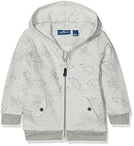 TOM TAILOR Kids Baby-Jungen Kapuzenpullover Hooded Sweat Jacket, Grau (Original 1000), 92