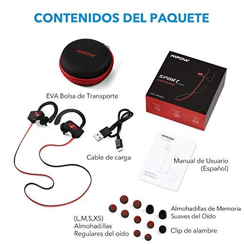 cadf74e7dec Mpow Auriculares Bluetooth Deportivos, Flame Inalámbricos Running IPX7  Impermeable Cascos V4.1 In-