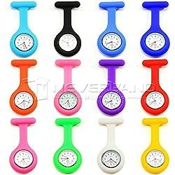 Neverland 12 Farben New Nurse Silikon Tunika Fob hängende Taschen-Uhr