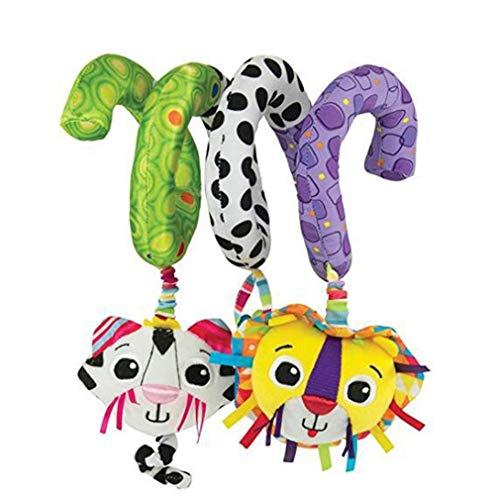 Ogquaton Kind Baby Spirale Bett Kinderwagen Spielzeug mit Löwe Katze pädagogisches Plüschtier für Mädchen Junge Geschenk langlebig und praktisch -