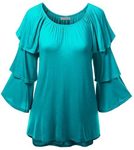 lemongirl-womens-long-pagoda-sleeve-shirt-pullover-blouse-tops