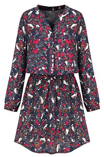 AM CLOTHES - Robe - Manches Longues - Femme Rouge - Rouge