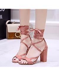 GAOLIM Un Gran Número De Zapatos De Mujer Zapatos De Mujer Expuesta Cabeza Redonda Gruesos Zapatos De Mujer Con...