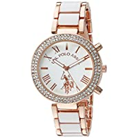 U.S. Polo Assn. Women's White Dial Alloy Band Watch - USC40091
