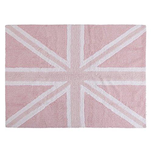 Lorena Canals Alfombra Infantil Lavable Modelo Flag England Baby Rosa
