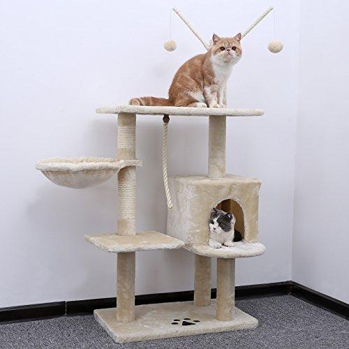 Songmics rbol para gatos rascador con nidos plataformas for Muebles para gatos ikea