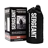 SERGEANT SERGEANT Emergency Sleeping Bag, Extra-Thick, Lightweight, Military Grade. Use as Emergency Bivy