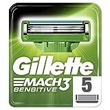 Gillette Mach3 Sensitive Rasierklingen Für Männer, 1er Pack (1 x 5 Stück)